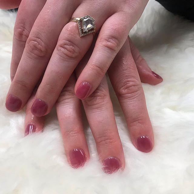 Dipping powder with natural nails by Tra