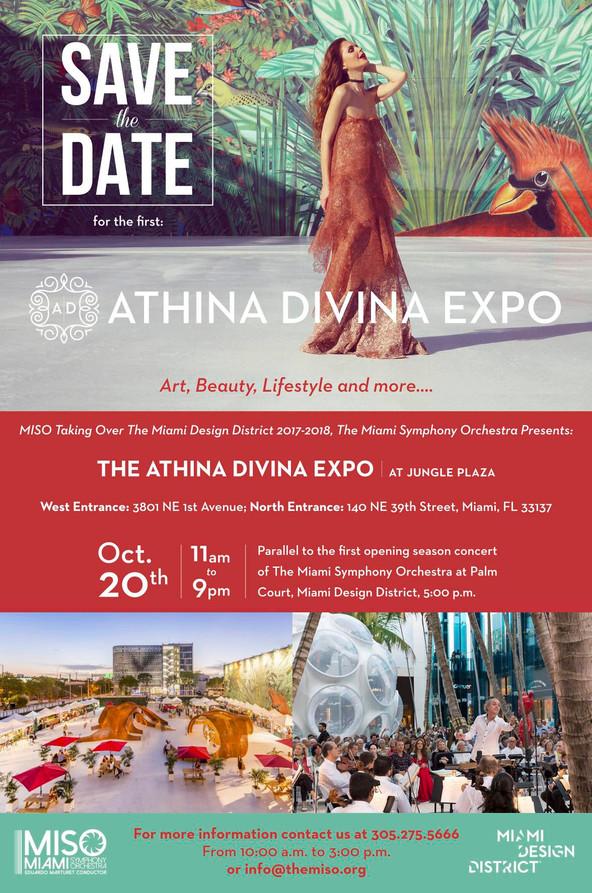 ATHINADIVINA EXPO 2017 en el Miami Design District, October 20