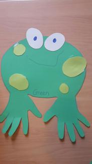 Smiling Green Frog