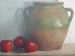 Jar & Three Apples SOLD
