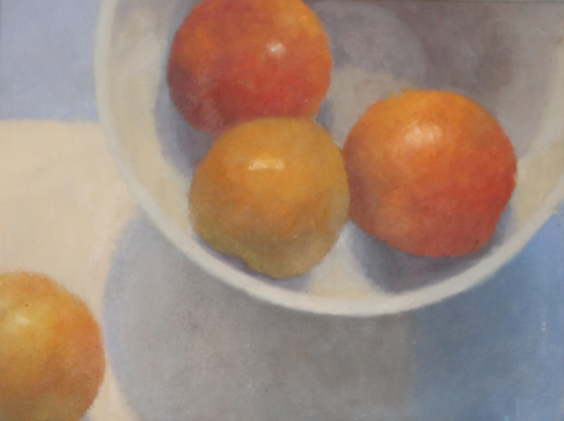 Plums   Oil on linen   30x40 cm