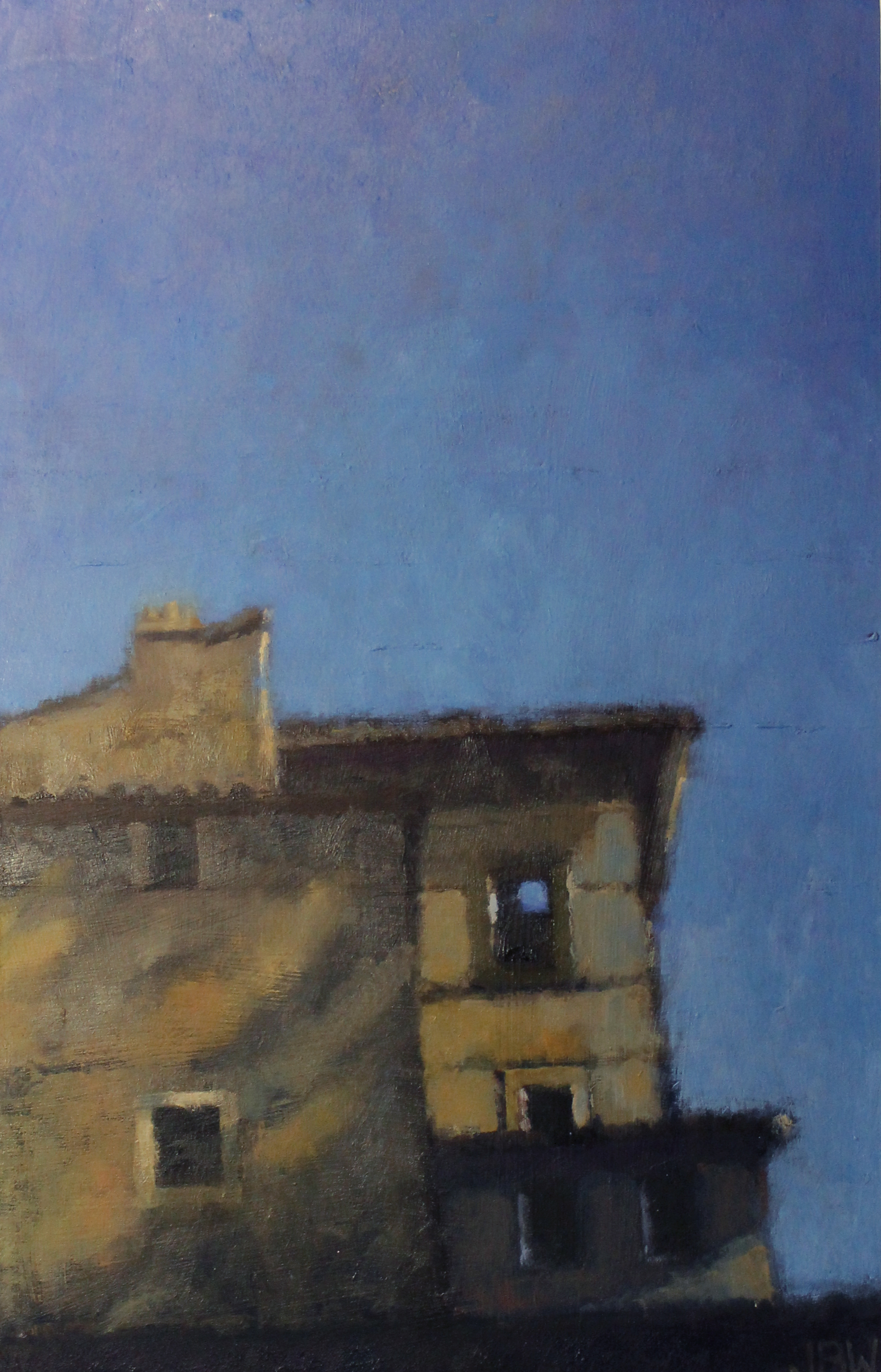 Blue Sky Rome, Oil on board, 44 x 30 cm