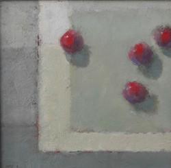 Cherries  Oil on Board  20x20 cm