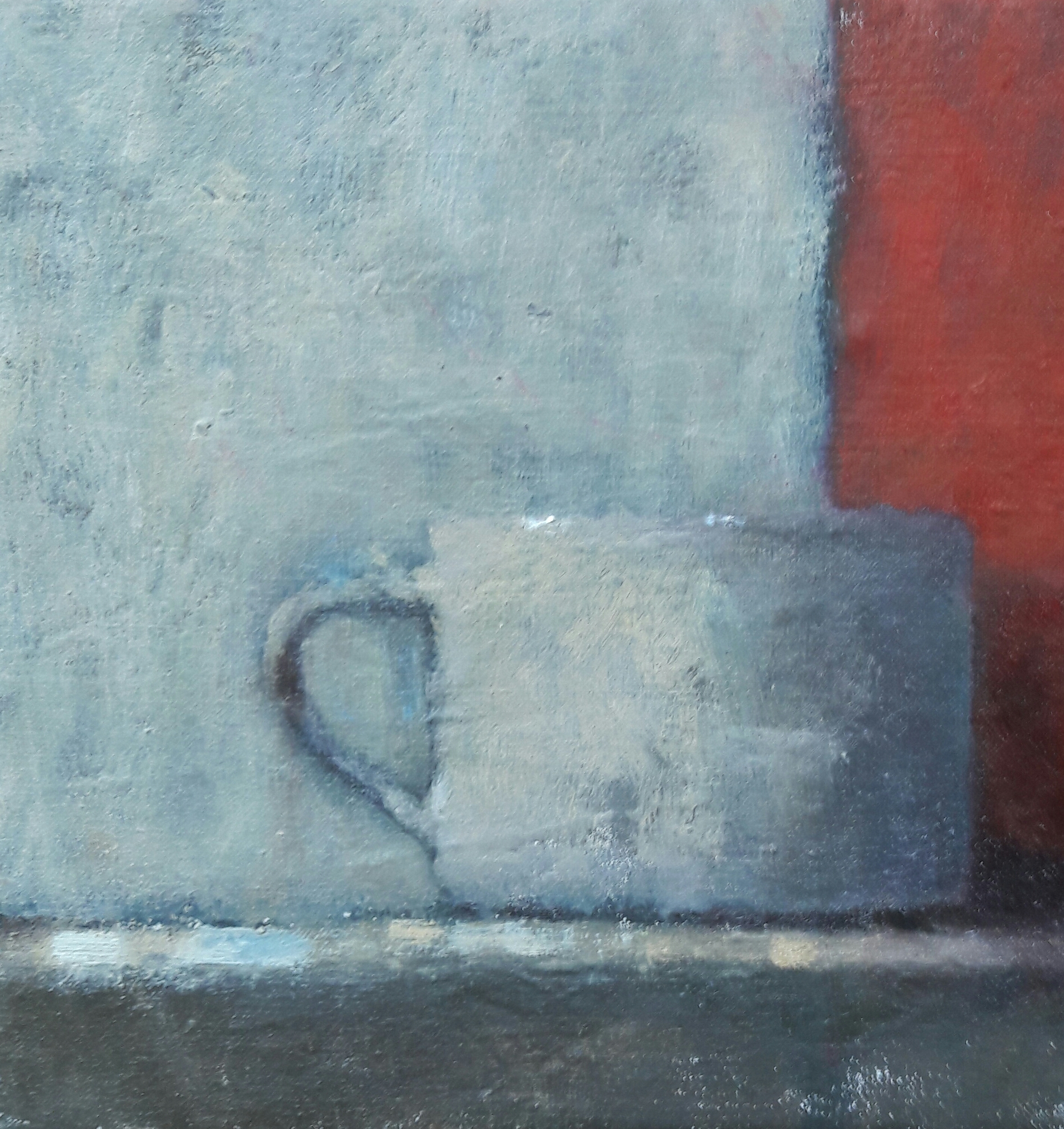 White Mug  Oil on  linen  20x20 cm