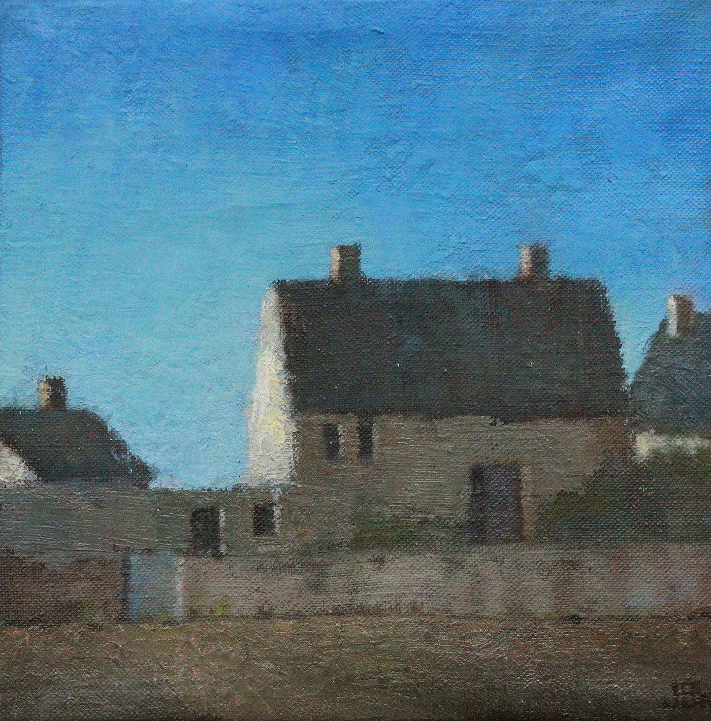 House across the Field,  Oil on canvas, 30x30cm