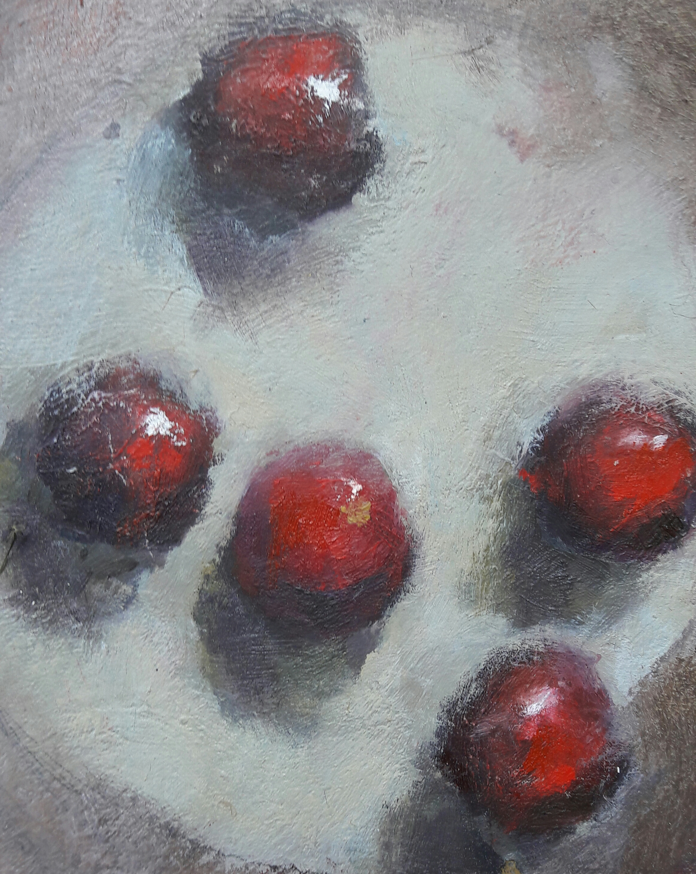 Cherries II, Ol on board, 20x20 cms, SOLD