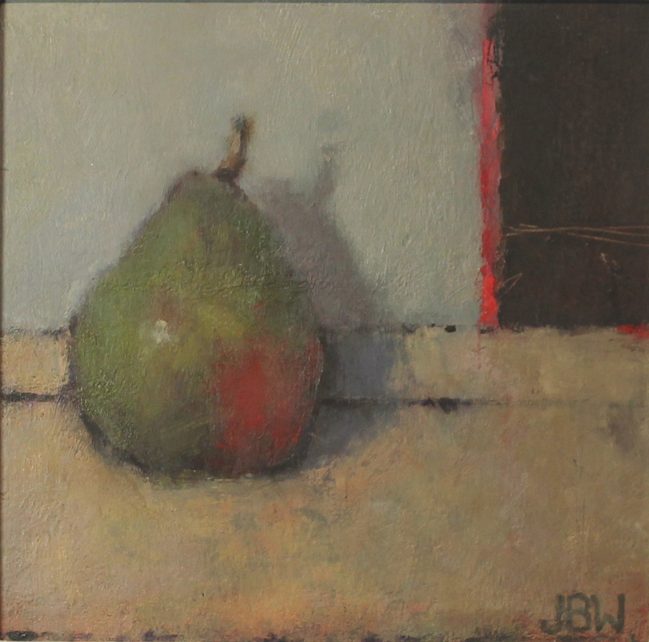 Pear, oil on board, 20x20cms (2)