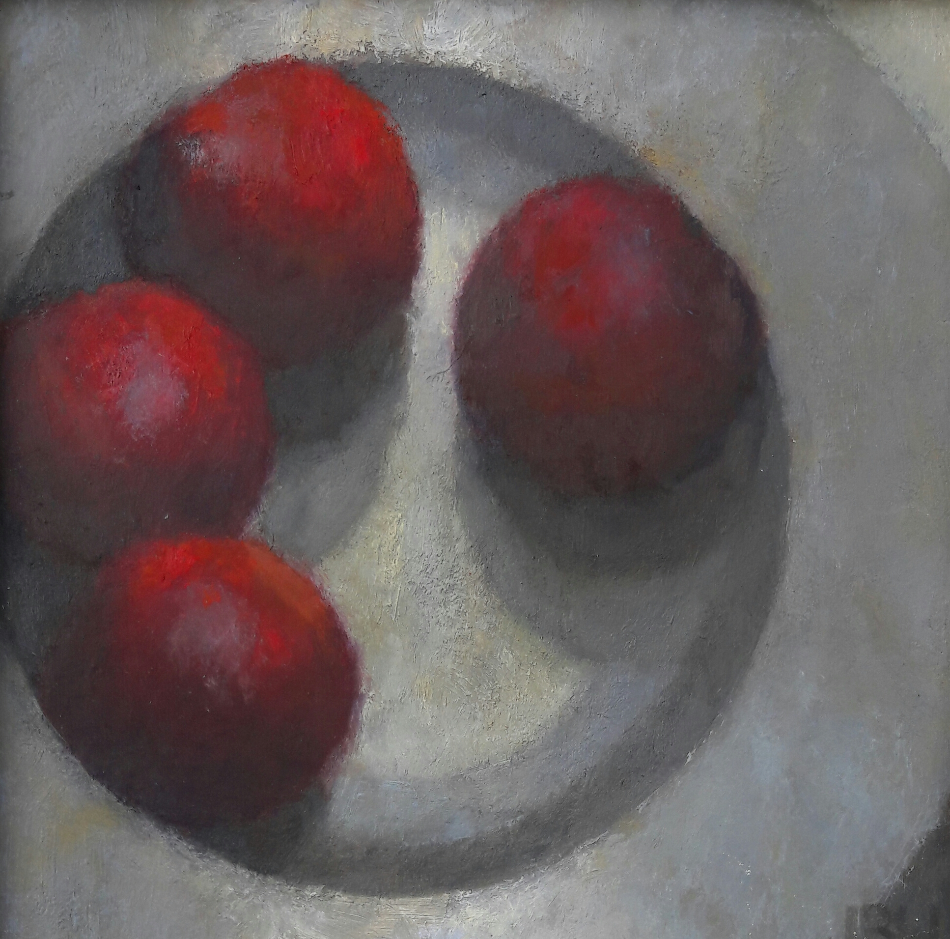 Nectarines  Oil on board  24x24 cm