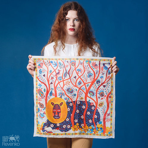 MONSTER IN THE FOREST artist silk scarf