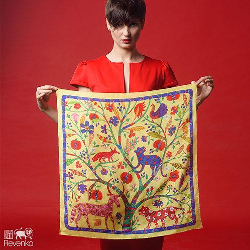AUTUMN FOREST artist silk scarf