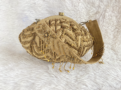 Embroidered Frame CLutch