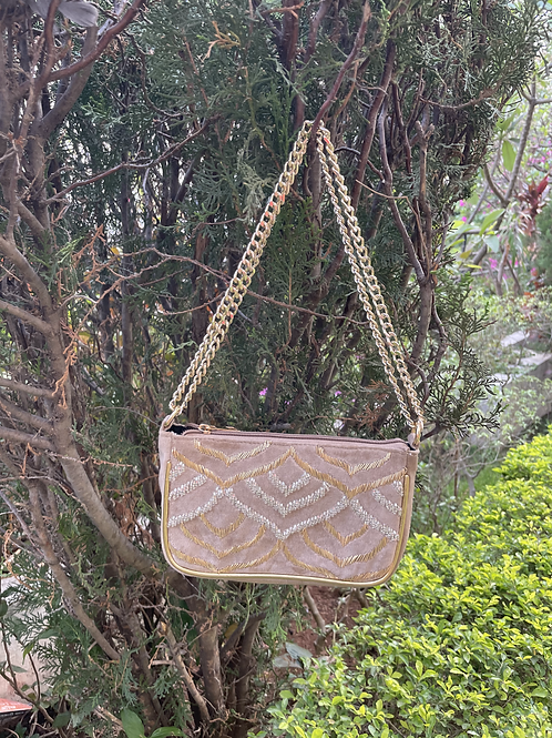 Embroidered Pouch Sling