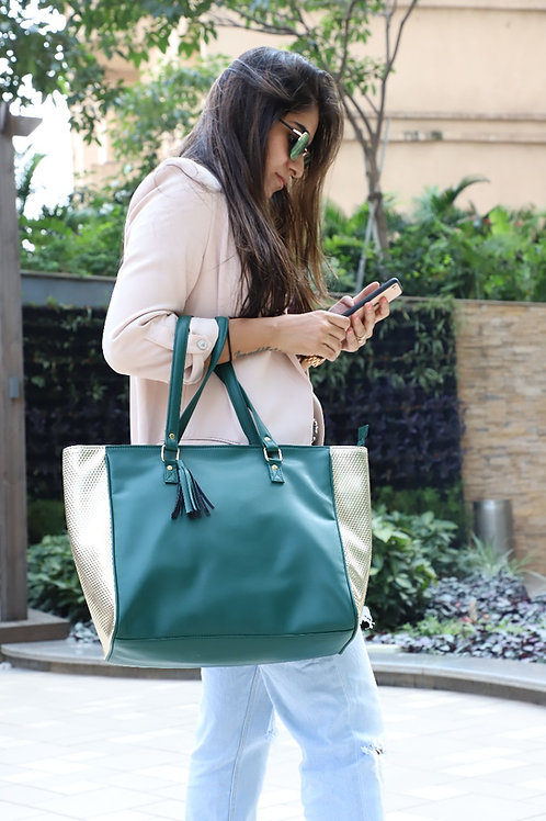 Side Gold Tote
