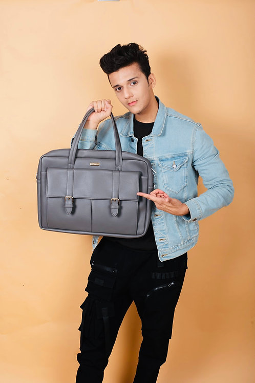 Buckle Flap Laptop Bag