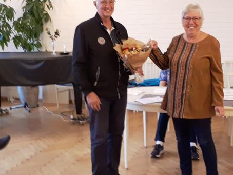Roy Larsson avtackad som Tävlingsledare vid Årsmötet.