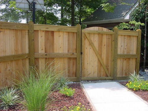Wood fence custom