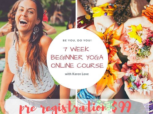 7 Week Beginner Yoga Online Course