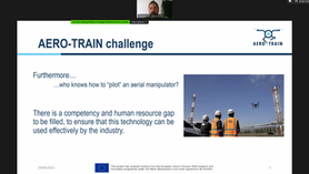 AERO-TRAIN presented at the European Robotics & AI workshop