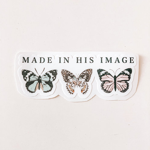 Made In His Image Sticker