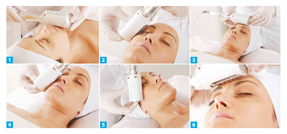 Traitement du visage avec Endosphères Thérapy