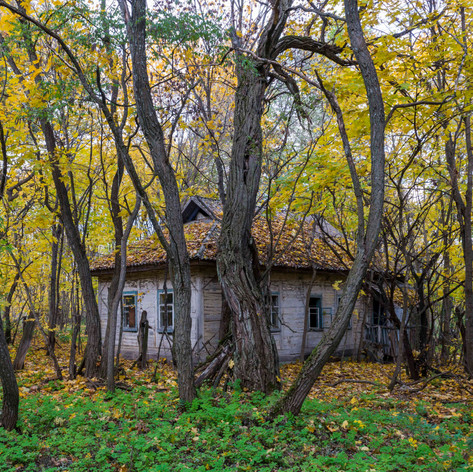 Abandoned House, Parachiv, Ukraine