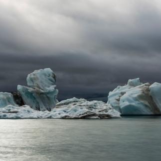 Ice Blocks Jokulsarlon Lake, Iceland