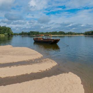 Boat on Loire, France