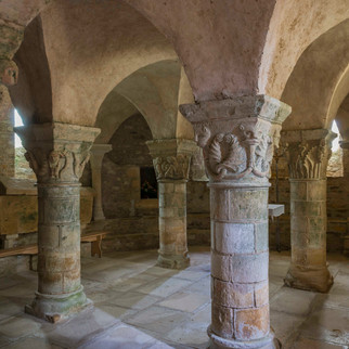 Crypt of Church, Parise le Chatel, France