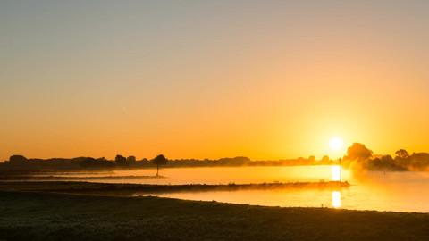 Sunrise at the Lek, Culemborg, The Netherlands