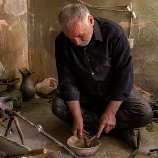 Worker in Damghan, Iran