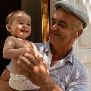 Man with Grandchild, Uzbekistan