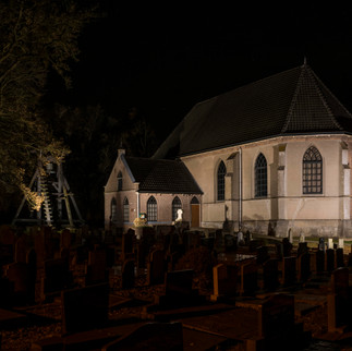 Church at Night in Wanneperveen, The Netherlands