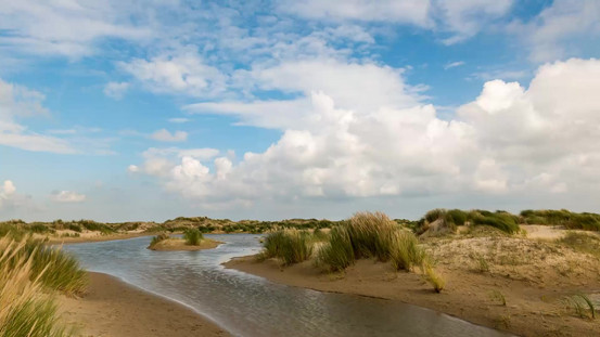 Dunes and Clouds on Texel, The Netherlands