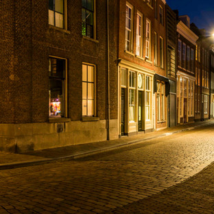 'Tranquil' street in Dordrecht, The Netherlands
