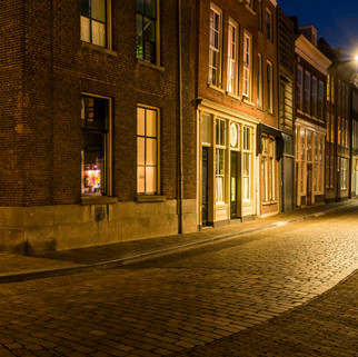 'Tranquil' street in Dordrecht, The Netherlands