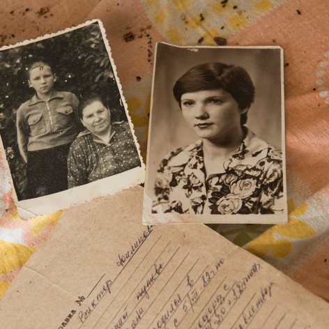 Family Photos in abandoned House, Belarus