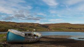Boat at the Beach, Isle of Skye, Scotland