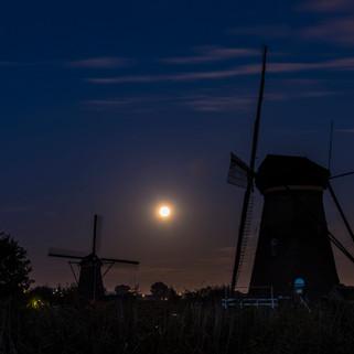 Two Wind Mills in Kinderdijk, The Netherlands