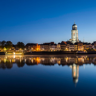 City-line of Deventer at the IJssel, The Netherlands