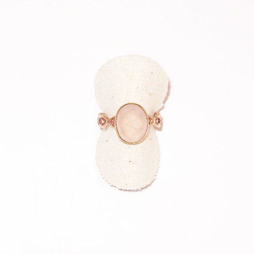 Bague Solo Quartz rose