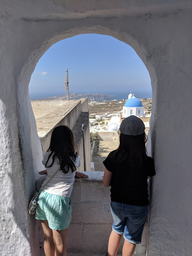 santorini with kids