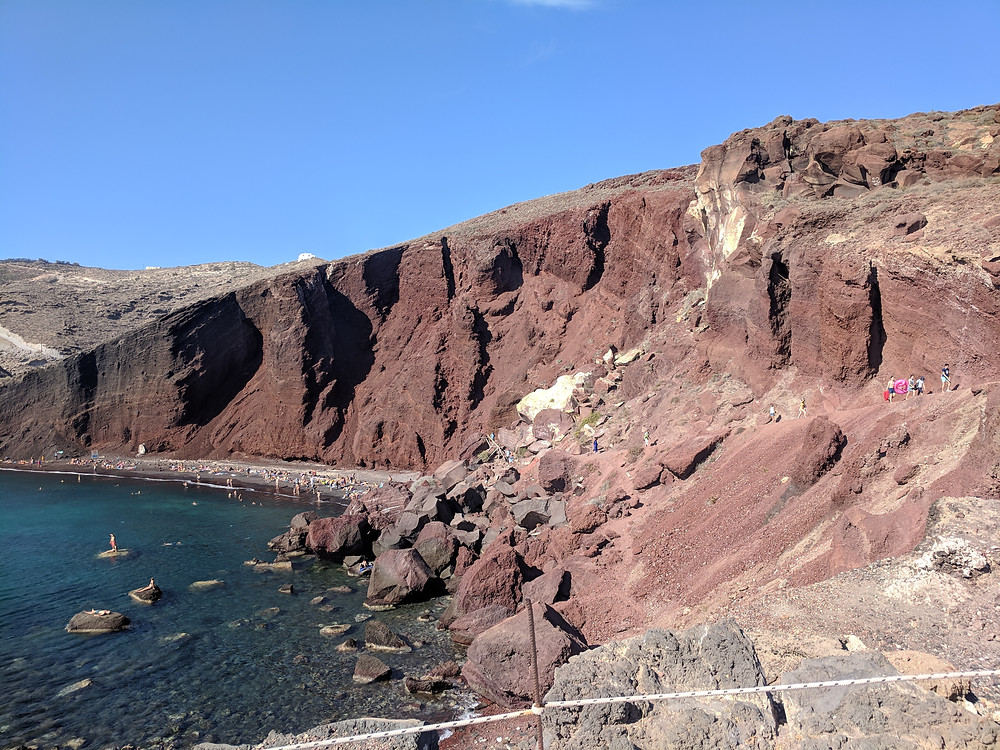 Red Beach View Santorini