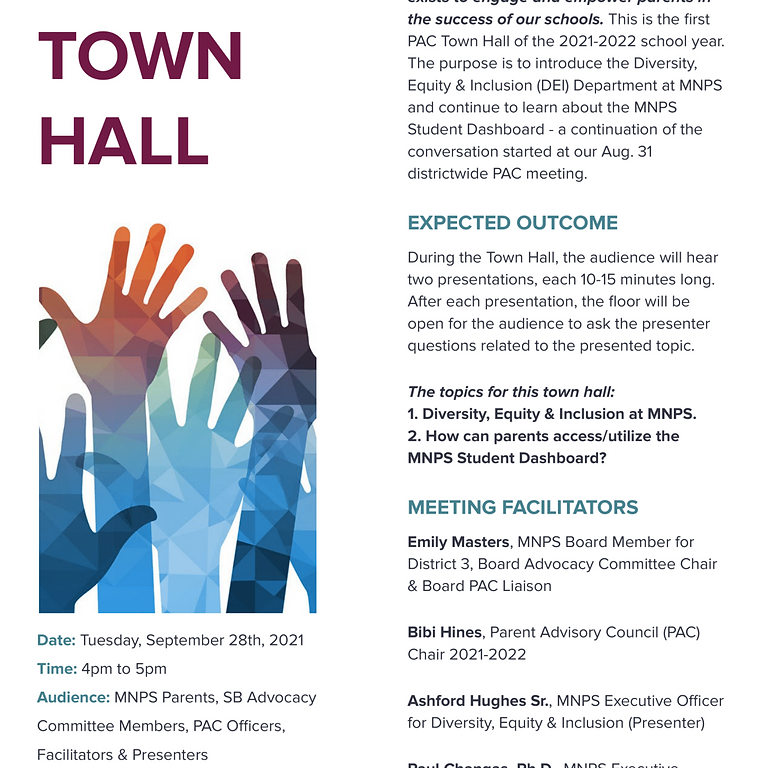 PAC Town Hall