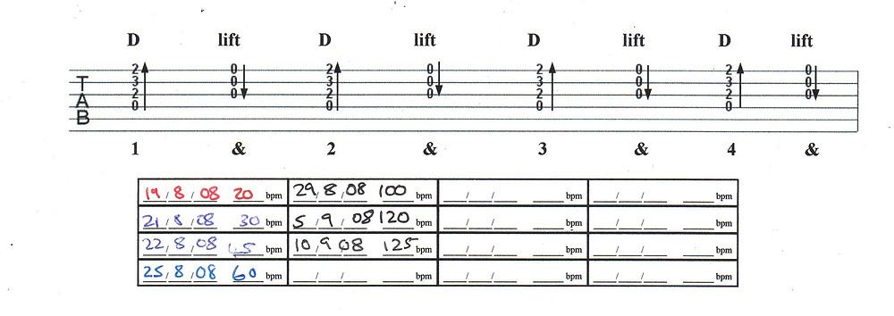 My guitar chord practice from 2008