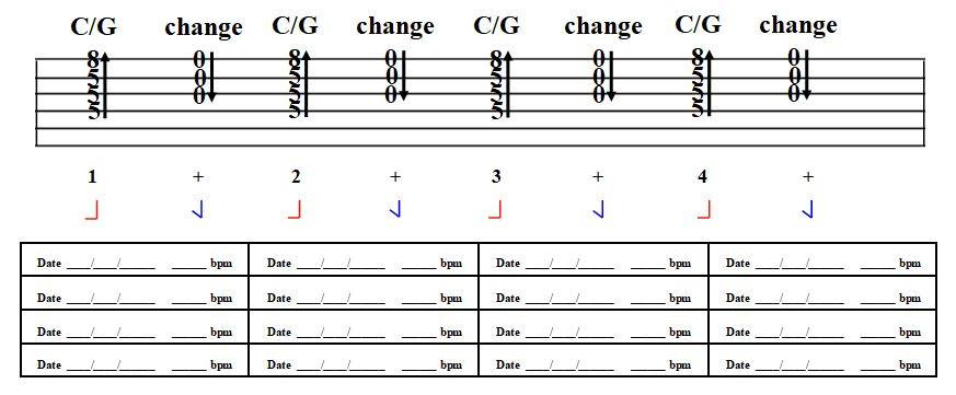 Stairway C/G chord practice