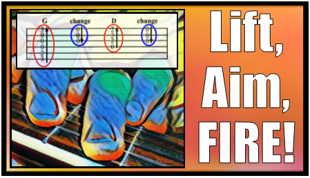 Lift, Aim, Fire. Definitive guide to how to practice guitar chords