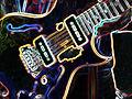 gibson blueshawk guitar black neon