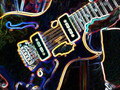 gibson blueshawk guitar black neon