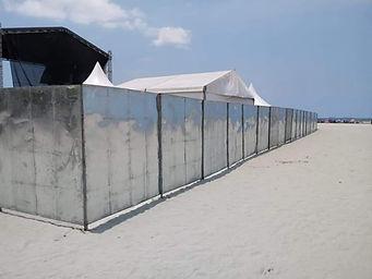 Aluguel de fechamento de alumínio