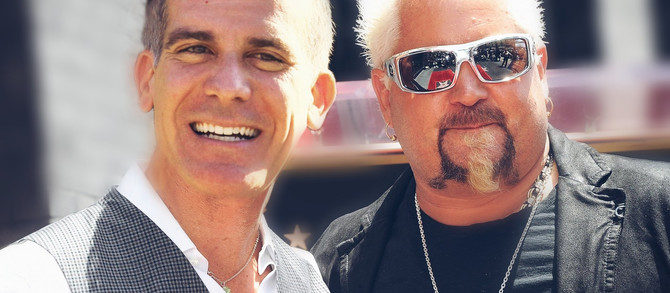 "L.A. Mayor Eric Garcetti Teams Up With Guy Fieri To Rename Skid Row, ""Flavortown"""